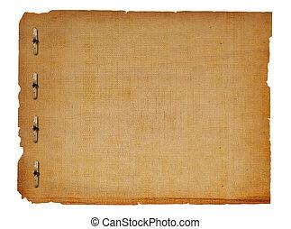 grunge, enajenado, papel, diseño, en, scrapbooking, estilo
