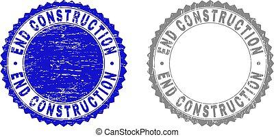 Grunge END CONSTRUCTION Textured Stamp Seals