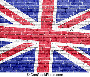 Grunge england flag on wall