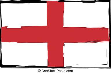 Grunge England flag or banner vector illustration