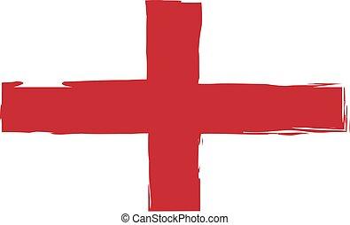 Grunge England flag or banner