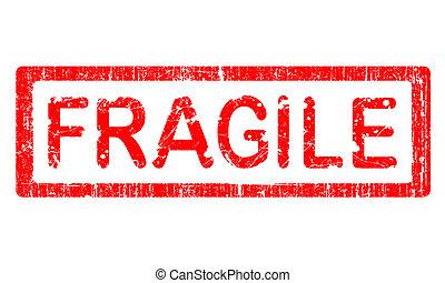 grunge, escritório, selo, -, frágil