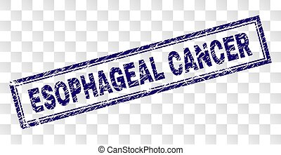 Grunge ESOPHAGEAL CANCER Rectangle Stamp