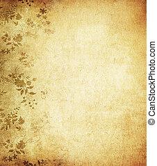 grunge, espacio, texto, imagen, plano de fondo, floral, o