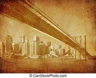 grunge, estados unidos de américa, imagen, brooklyn, nueva ...