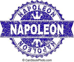 grunge, estampilla, textured, cinta, sello, napoleon