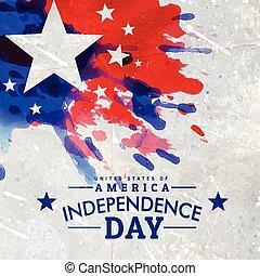 grunge, estilo, dia independência american, fundo