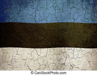 Grunge Estonia flag