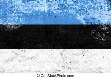 Grunge Estonia Flag