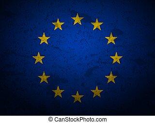 Grunge EU flag