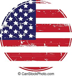 grunge, eua, flag., americano, sujo, flag.vector