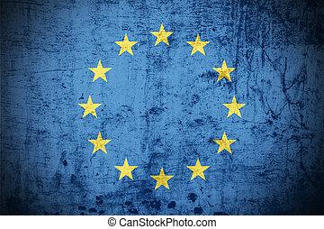 Grunge Euro Flag