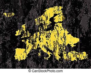grunge Europe map