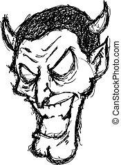 grunge evil face