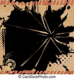 Grunge Explosion Background.