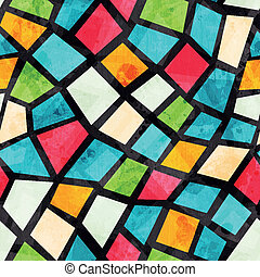 grunge, färgad, mönster, verkan, seamless, mosaik