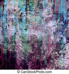 grunge, färgrik, bakgrund