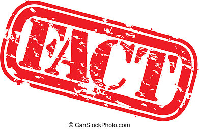 Grunge fact rubber stamp, vector illustration