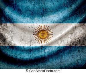 grunge, fahne, argentinien