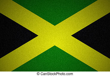 grunge, fahne, reihe, -jamaica