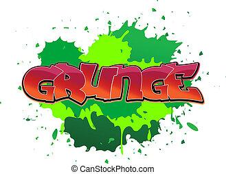 grunge, falfirkálás, háttér