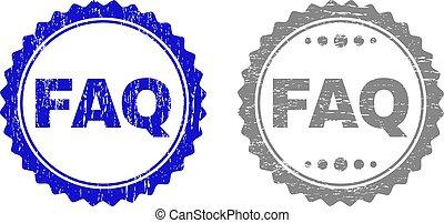 Grunge FAQ Scratched Stamp Seals