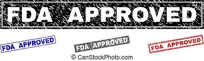 Grunge FDA APPROVED Scratched Rectangle Stamp Seals