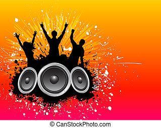 grunge, feestje, achtergrond