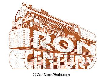 grunge, fer, siècle