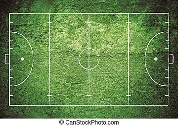 Grunge Field Hockey Field - Grunge illustration of field ...