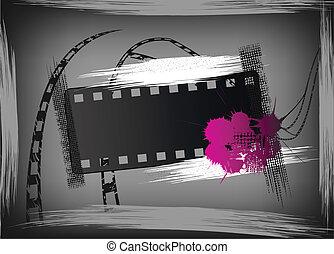 Grunge film banner