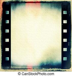 grunge, film, fondo, striscia