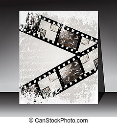 Grunge film for photo or video recording