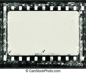Grunge film frame - Computer designed highly detailed film ...