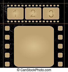 Grunge film frame - Editable vector background - grunge film...