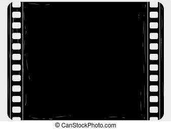 Grunge film frame - Editable vector film frame