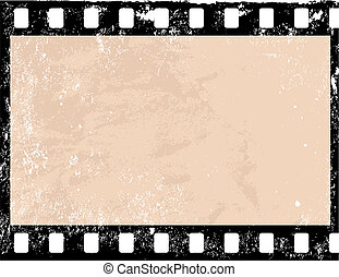 Grunge film frame - Illustration of a grunge filmstrip frame...