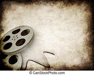 grunge film reels - 3d rendered illustration of an old paper...