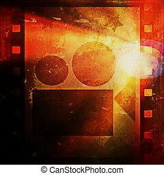 grunge film strip and movie project - Old grunge film strip...
