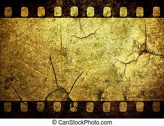 Grunge film strip background - Vintage grunge film strip...