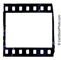 Grunge film strip - Old film strip isolated on white ...
