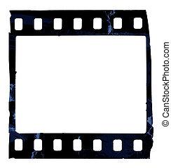 Grunge film strip - Old film strip isolated on white...