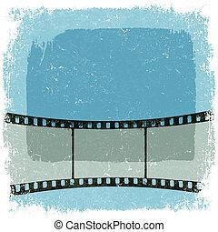 Grunge film strip poster. Vector, EPS10