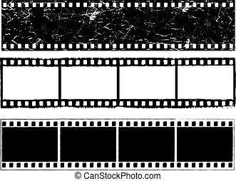 Grunge film strips - Various designs of grunge styled film...