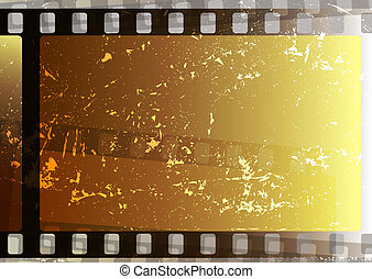 Grunge film strips (vector)