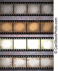 grunge film strips - vintage scratched seamless film strips...