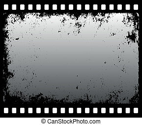 grunge filmstrip in grayscale