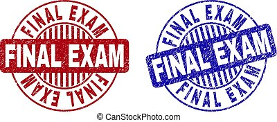 Grunge FINAL EXAM Scratched Round Stamp Seals