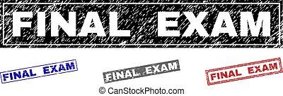 Grunge FINAL EXAM Textured Rectangle Stamps