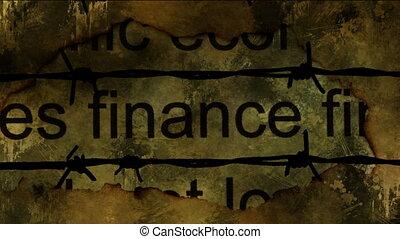 grunge, finance, fond, texte